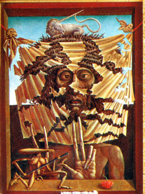 Ernst Fuchs. For the cloth of Veronica