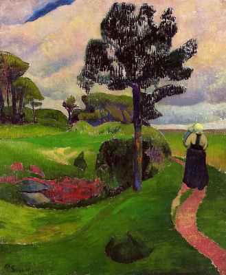 Paul Sérusier. Mother with child in breton landscape