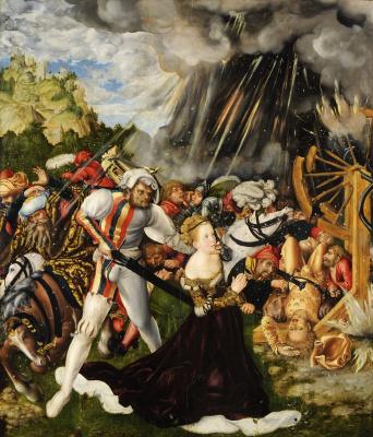 Lucas Cranach the Elder. The martyrdom of Saint Catherine