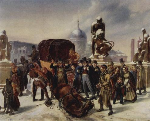 Август фон Ренцель. Уличная сцена