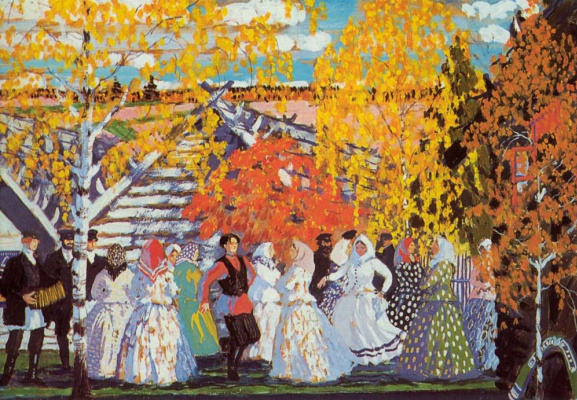 Boris Mikhailovich Kustodiev. Village fete. Fragment