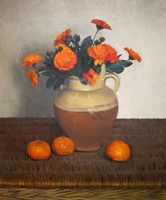 Felix Vallotton. Marigolds and tangerines