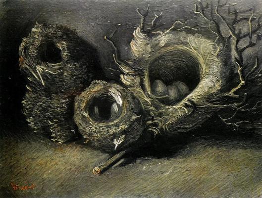 Винсент Ван Гог. Натюрморт с тремя птичьими гнездами