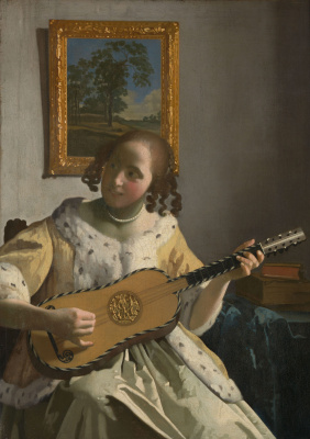 Jan Vermeer. Guitarist. Fragment