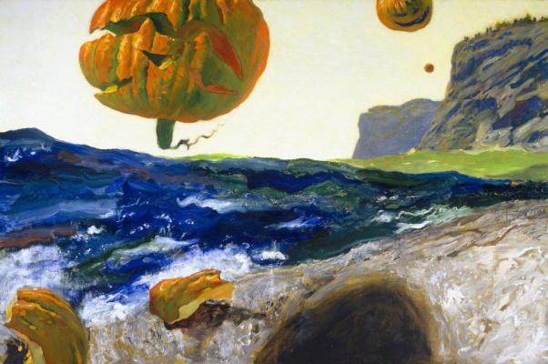 Jamie Wyeth. The Cape of the island Monhegan