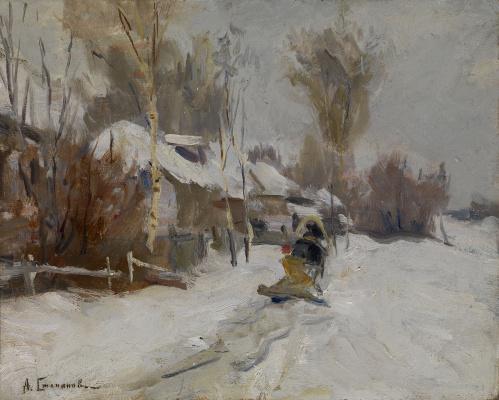Alexey Stepanovich Stepanov. Winter scene