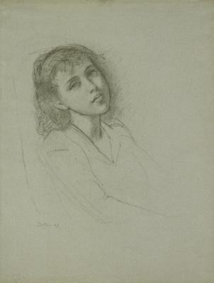 Balthus (Balthasar Klossovsky de Rola). Portrait of a girl
