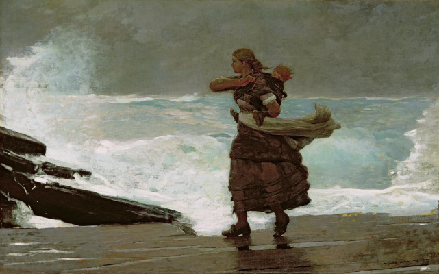 Winslow Homer. The output of the Gale