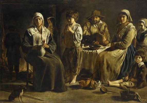 Антуан, Луи и Матье Ленен. Крестьянская семья