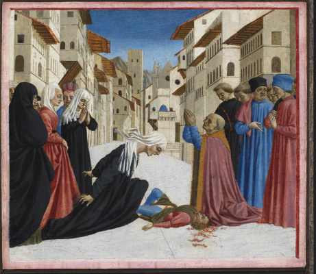 Доменико Венециано. Чудо Святого Зиновия