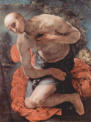 Якопо Понтормо. Кающийся св. Иероним