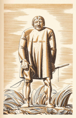 """Rockwell Kent. Illustration for the book """"Canterbury tales"""" of Geoffrey Chaucer"""