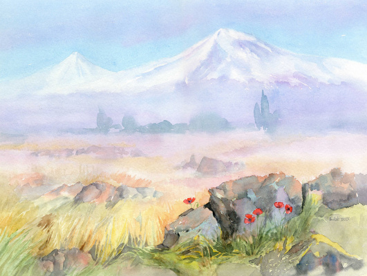 Smbat Arayevich Bagdasaryan. Maki in the Ararat valley