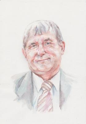 Ivan Alexandrovich Dolgorukov. Watercolor portrait of SV Zolotaryov