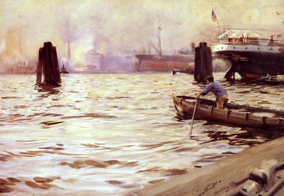 Андерс Цорн. Мужчина в лодке