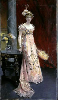 Франсуа Фламенг. Портрет герцогини Доры Евгеньевны Лейхтенбергской
