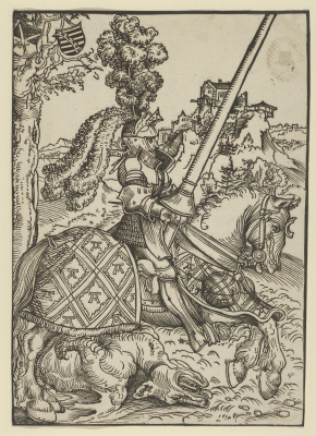 Lucas Cranach the Elder. Saint George on horseback