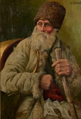 Vasily Ivanovich Surikov. The old Cossack