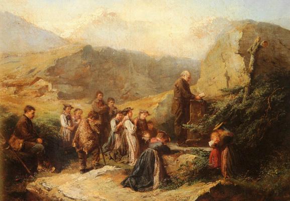Рафаэль Ритц. Молитва в Альпах