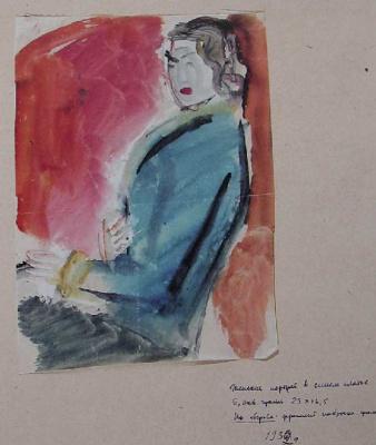 Robert Rafailovich Falk. The girl in the blue dress