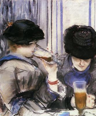 Эдуар Мане. Две женщины, пьющие пиво