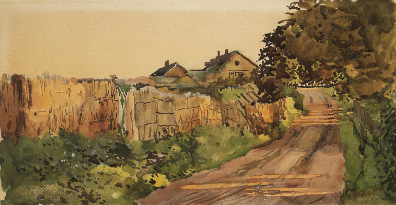 Constantin Somov. The road to the cottage