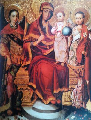 Украинский Иконописец XVIII века. Богородица с Архангелами