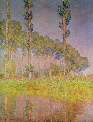 Claude Monet. Three poplars in the spring