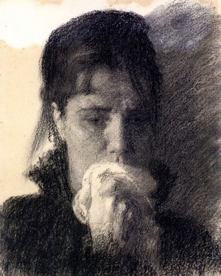 Иван Николаевич Крамской. Голова плачущей женщины. Этюд к картине «Неутешное горе»