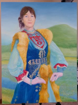 Алмаз Батталов. Женщина в башкирском костюме