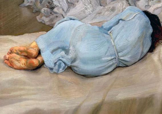 Люсьен Фрейд. Спящая Анабель