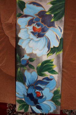 Eduard Alekseevich Titov. Blue flowers.