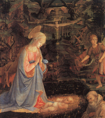 Filippino Lippi. Worship the baby