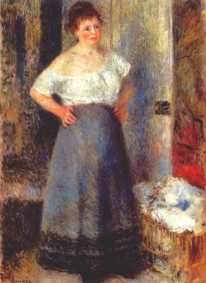 Pierre-Auguste Renoir. Laundress