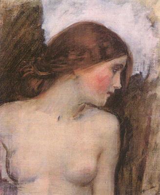 Джон Уильям Уотерхаус. Портрет девушки. Эскиз для музы Эхо