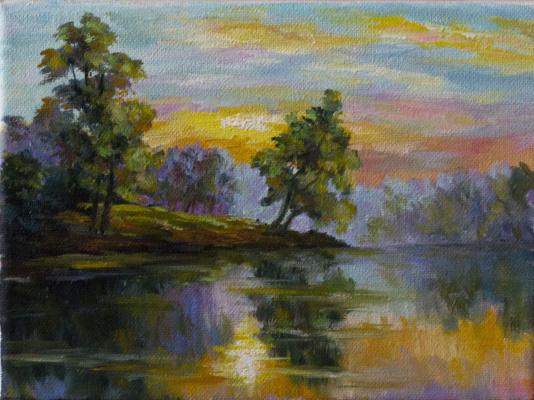 Mila Kaneyeva. Sunset. Etude. (Free copy)