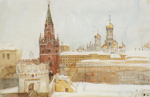 Vasily Ivanovich Surikov. View of the Kremlin in winter