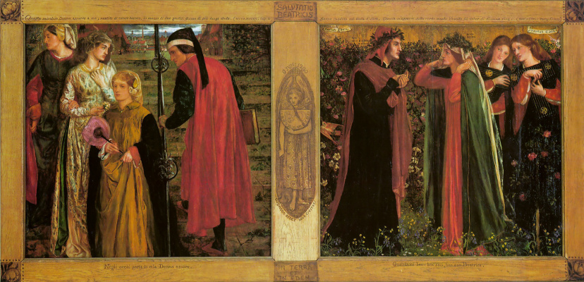 Dante Gabriel Rossetti. The Salutation Of Beatrice