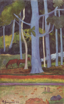 Paul Gauguin. Landscape in Tahiti