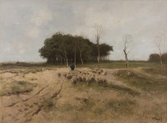 Anton Maouve. On the Heath near Laren