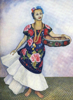 Diego Maria Rivera. Woman in bright dress