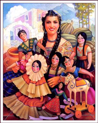 Хорхе Гонсалес Камарена. Женщина с косами