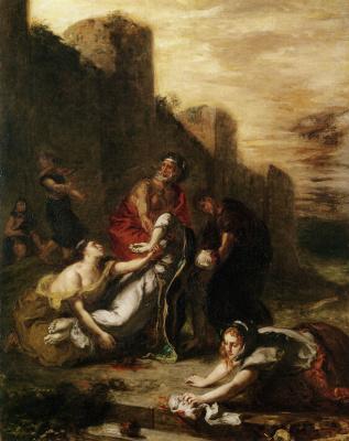 Эжен Делакруа. Женщины уносят тело Св. Стефана