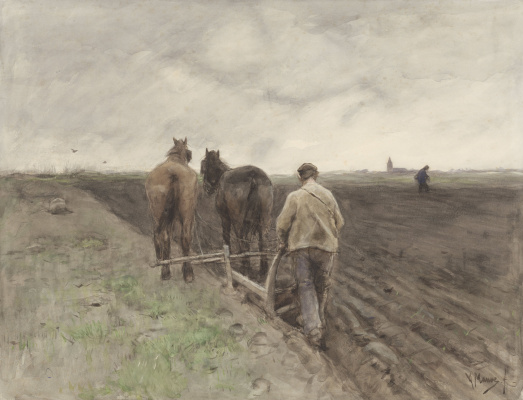 Anton Maouve. A farmer with a plow