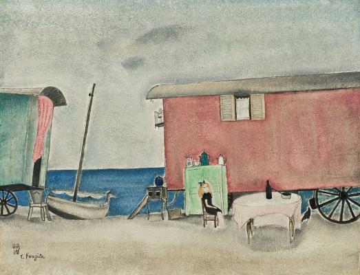 Zuguharu Fujita (Léonard Fujita). Gypsy camp