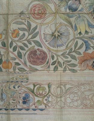 William Morris. Sketch of carpet design