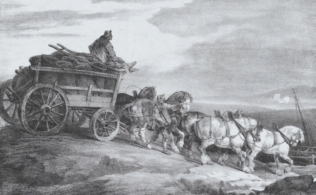 Théodore Géricault. Coal wagon