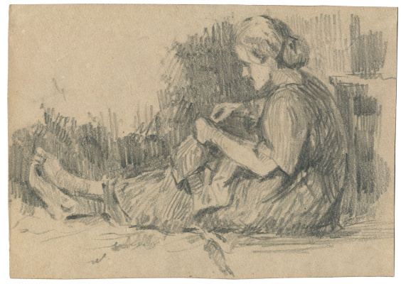 Alexandrovich Rudolf Pavlov. Sketch of mother.