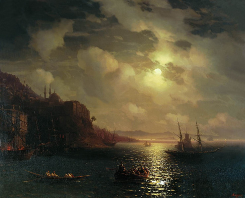 Ivan Constantinovich Aivazovski. The Golden horn. The Bosphorus