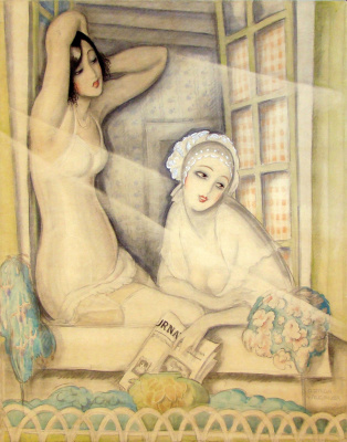 Gerda Wegener. Two women in the window